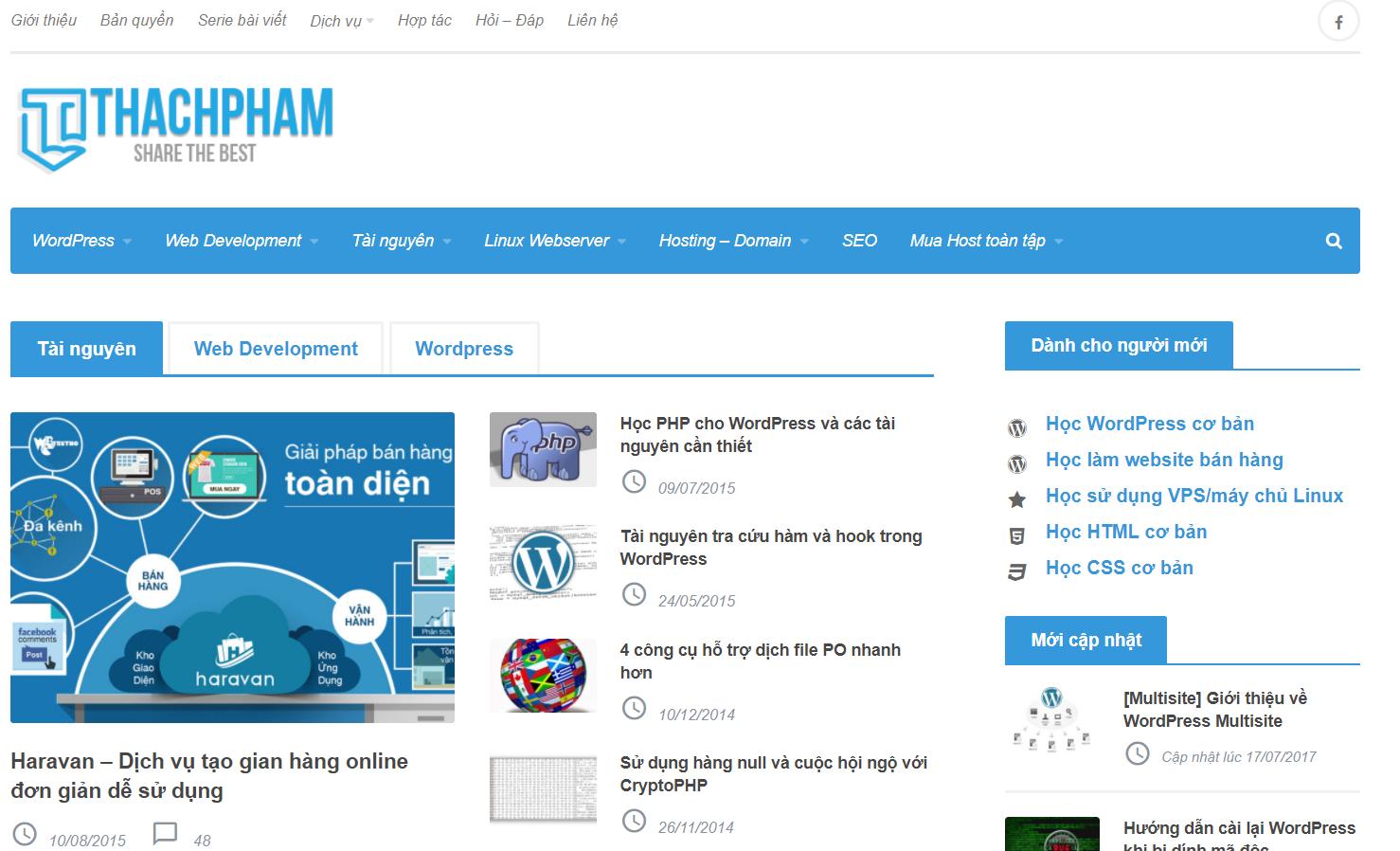 tự học lập trình web tại Thạch Phạm